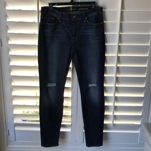 7 for all mankind Gwenevere skinny distressed